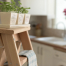 Practical and stylish, sturdy wooden ladders for kitchens and home interior or exterior use