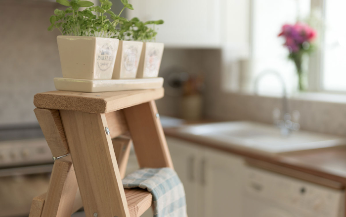 Wooden Kitchen Step Ladders