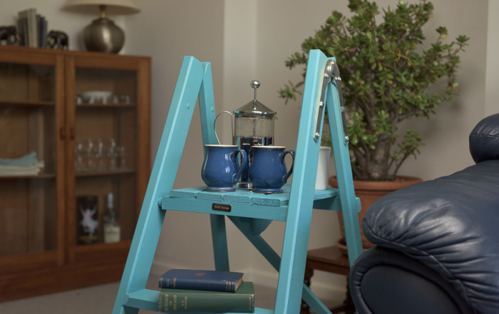 Side table wooden ladders