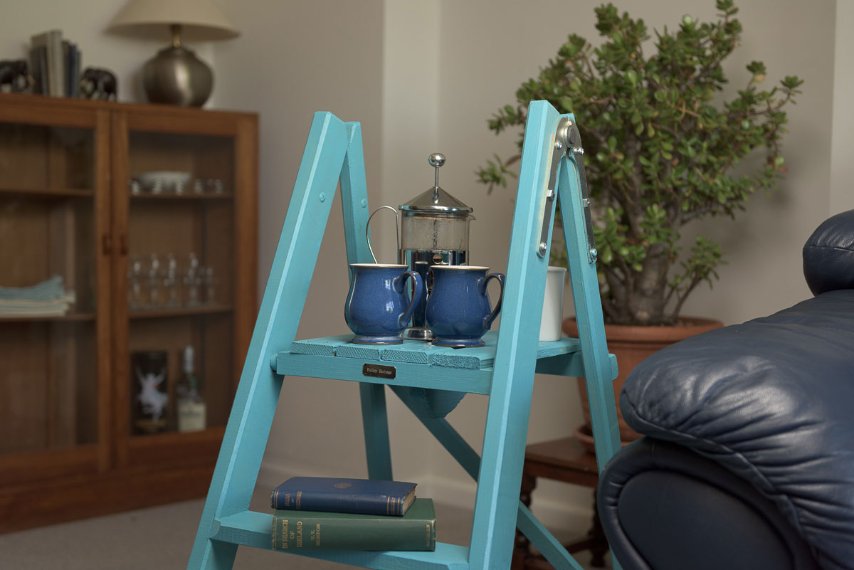 Delightful Side Table Wooden Ladders
