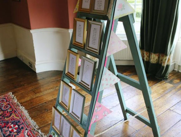 Wedding Plan Seating Display Ladder